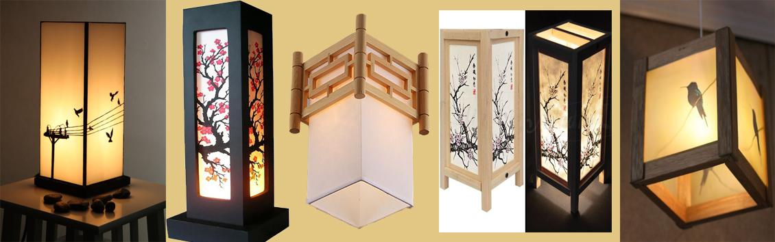 Đèn trang trí Shoji decor handmade
