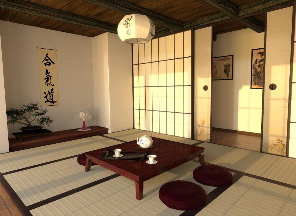 Phòng trà với chiếu tatami