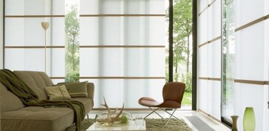 Rèm cửa kiểu Nhật làm nổi nật không gian nội thất