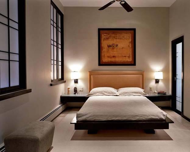 Tạo điểm nhấn bằng tranh treo tường khi trang trí nội thất phòng ngủ kiểu Nhật