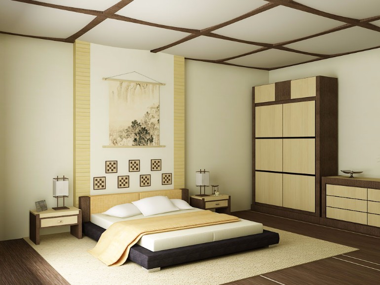 Thiết kế nội thất phòng ngủ Nhật Bản