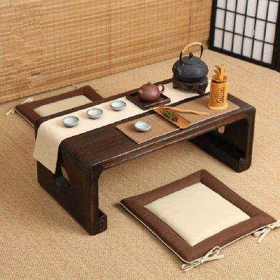 Mẫu bàn trà ngồi bệt kiểu Nhật