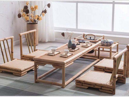 Mẫu bàn trà ngồi bệt ghế tựa