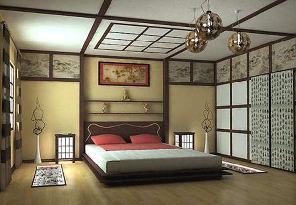 Thiết kế cửa lùa phòng ngủ phong cách Nhật Bản