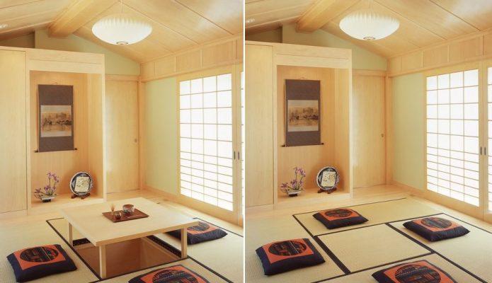 Phòng khách kiểu Nhật truyền thống