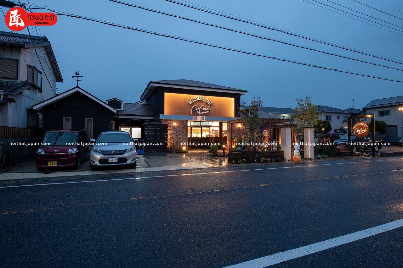 Mô hình nhà hàng kiểu Nhật lộng lẫy từ bên ngoài