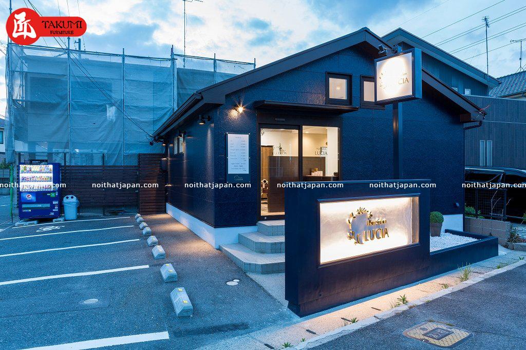 Mô hình nhà hàng kiểu Nhật nhìn từ bên ngoài