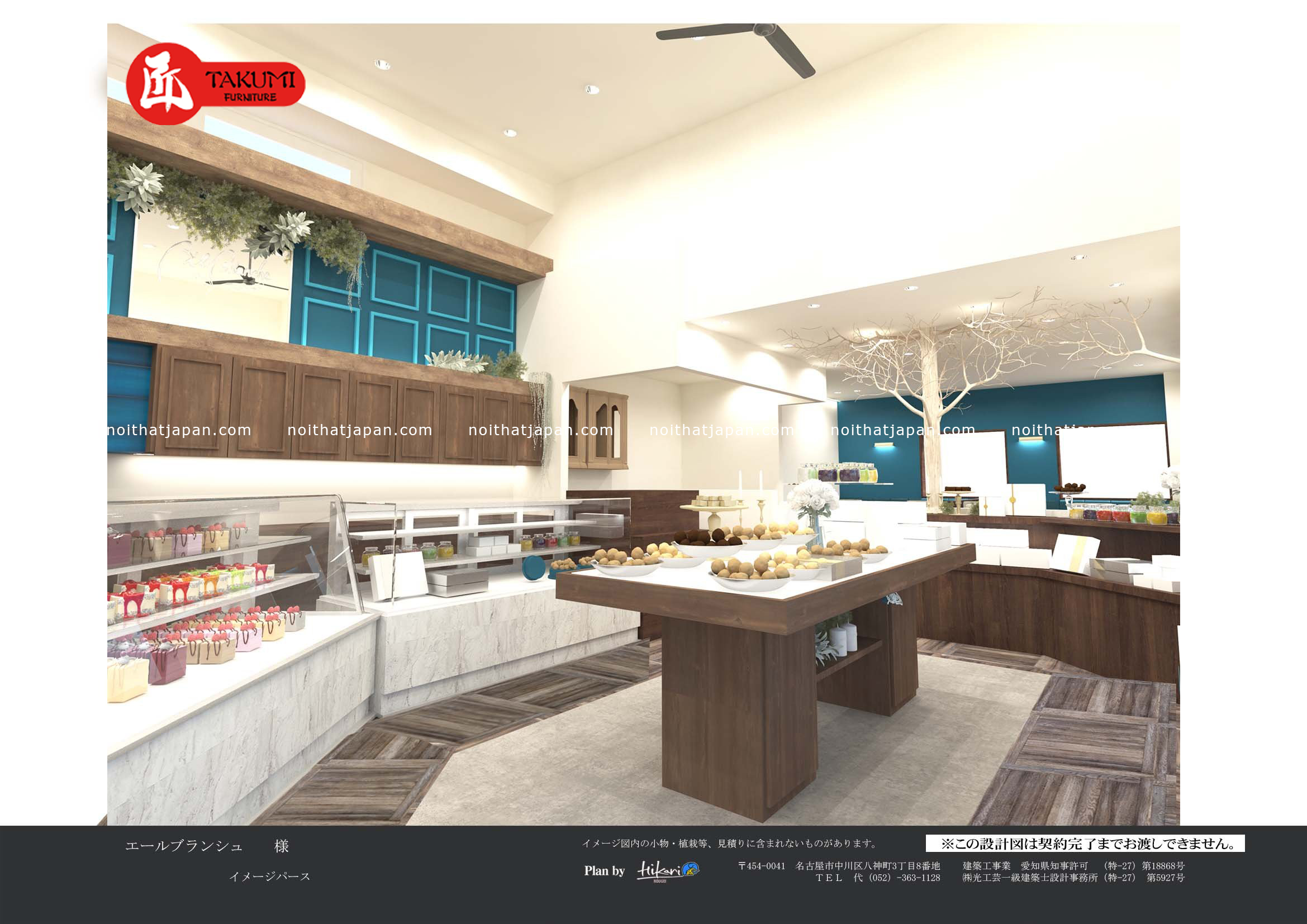 Mô hình nhà hàng quầy bánh