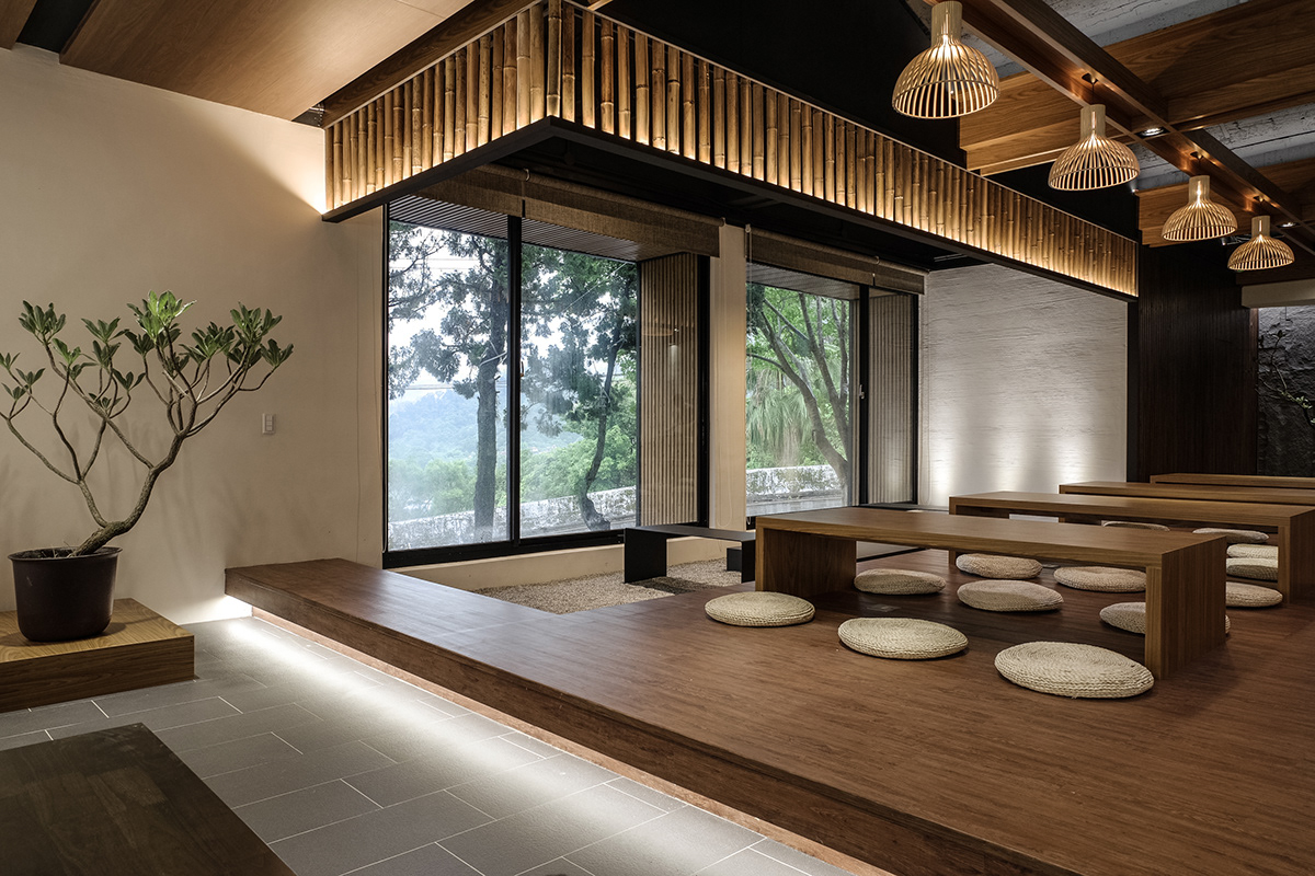 Tối giản nội thất trong nhà hàng kiểu Nhật