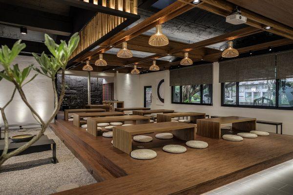 Không gian nhà hàng phong cách Nhật
