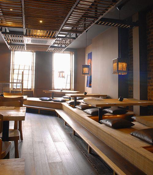 Sàn nâng Bankyo ứng dụng nhà hàng