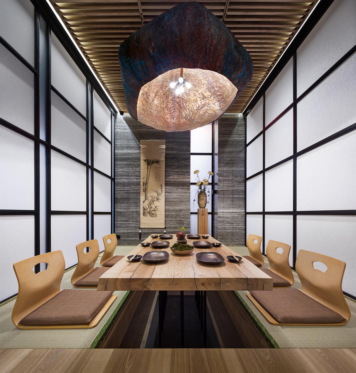 Bài trí ánh sáng trong không gian nhà hàng Nhật
