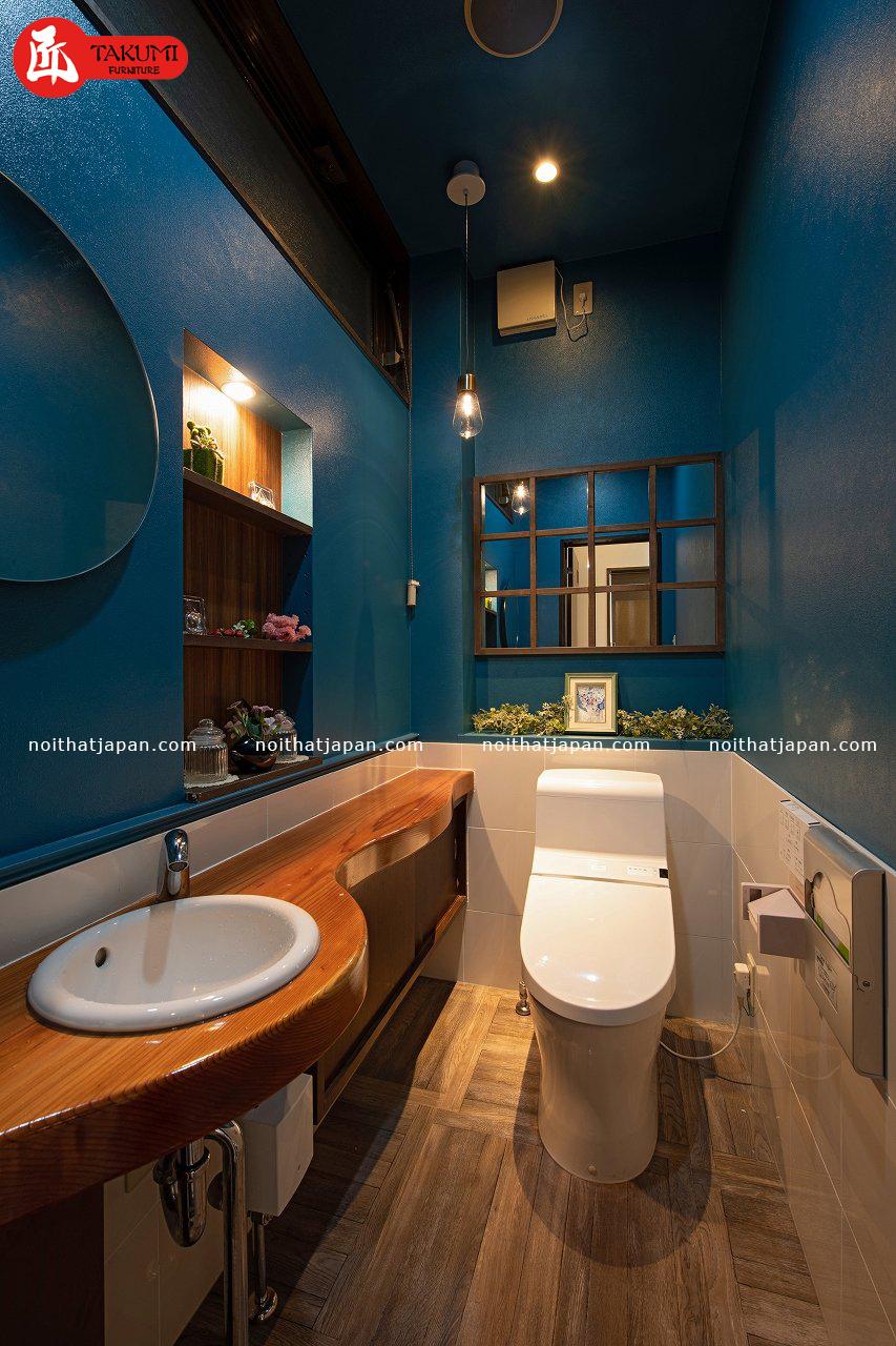Nhà vệ sinh trong thiết kế nhà hàng kiểu Nhật