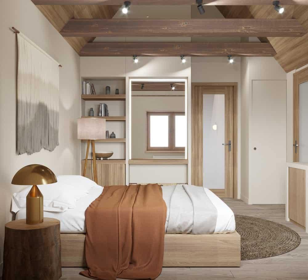 Phòng ngủ nhà phố kiểu Nhật