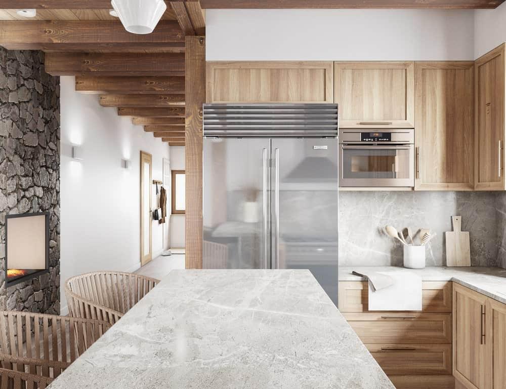 Bếp trong thiết kế nhà phong cách Nhật