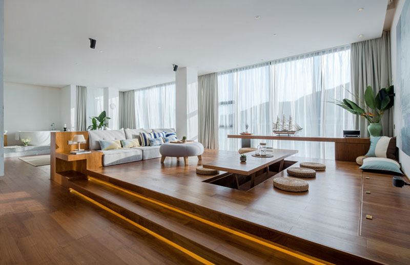 Thiết kế sáng tạo không gian nhà với sàn nâng Nhật Bản