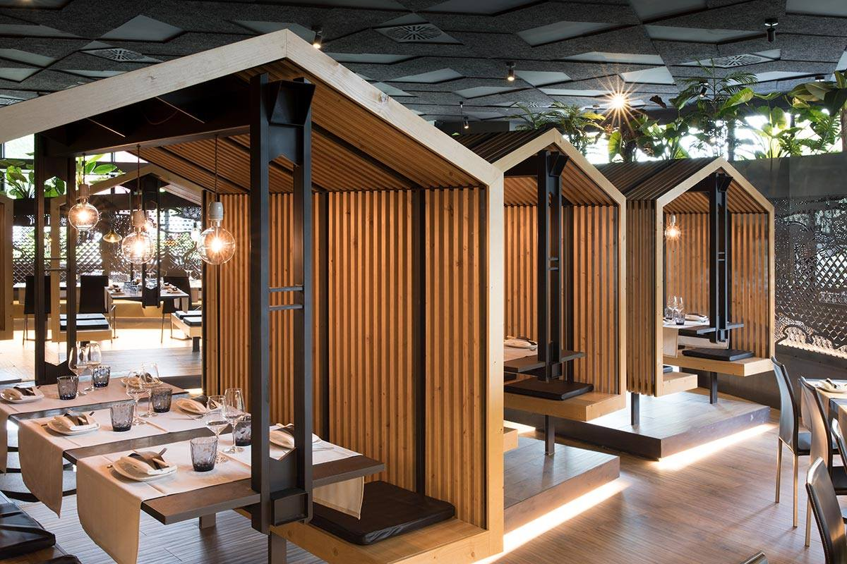 Mẫu trang trí nhà hàng Nhật ấn tượng