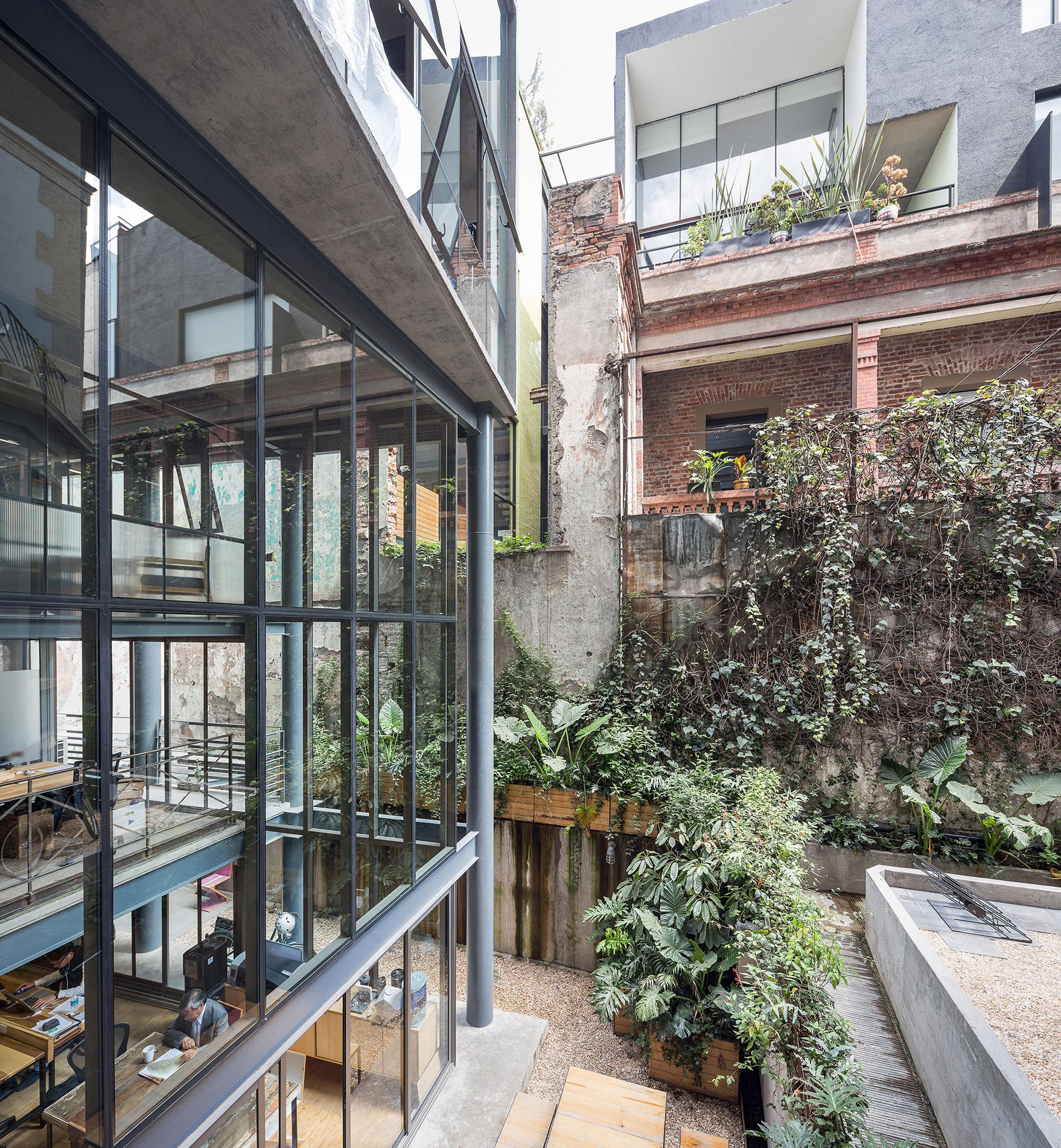 Văn phòng phong cách eco xanh từ bên ngoài